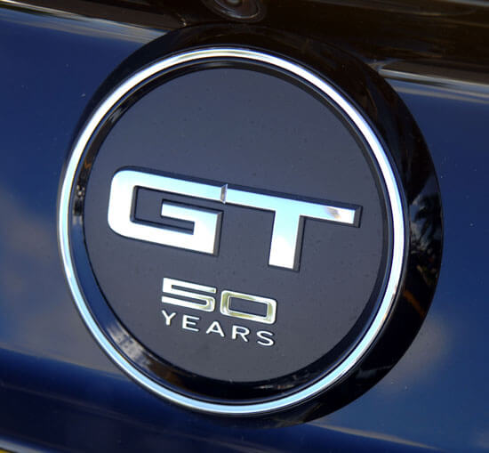 2015 Mustang rear GT 50 year logo