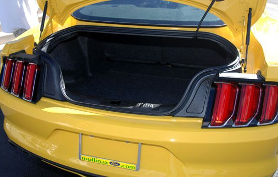 2015 Mustang trunk