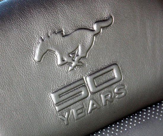 2015 Mustang 50 year seat logo