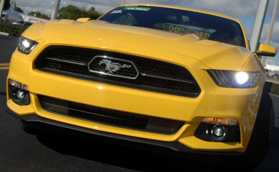 2015 Mustang front end