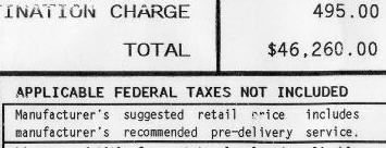 Dealer prep fee