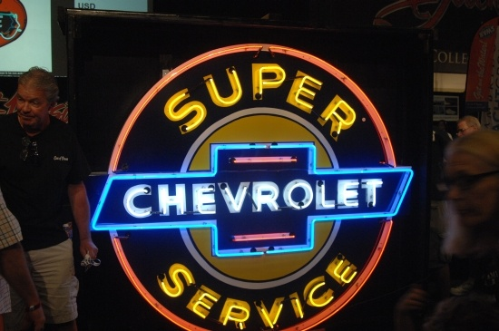 chevrolet service sign