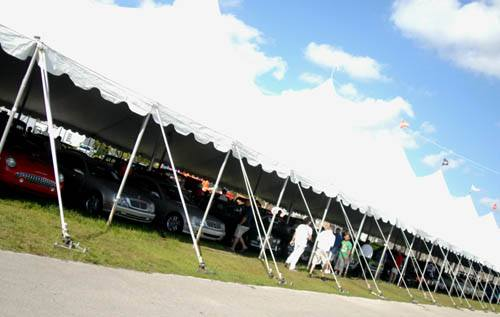 Barrett-Jackson tent & Guide to the Barrett-Jackson auctions for bidders buyers and visitors