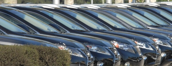 cars on dealer lot
