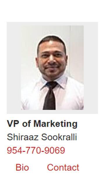 Salesman Shiraaz Sookralli Credit: Archive.org screen shot Champion Porsche web site August 15, 2018