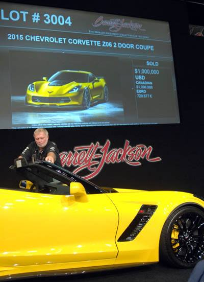 First 2015 Production Corvette Z06 at Barrett-Jackson auction - Picture 7