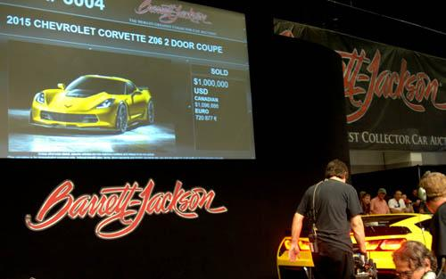 First 2015 Production Corvette Z06 at Barrett-Jackson auction - Picture 8