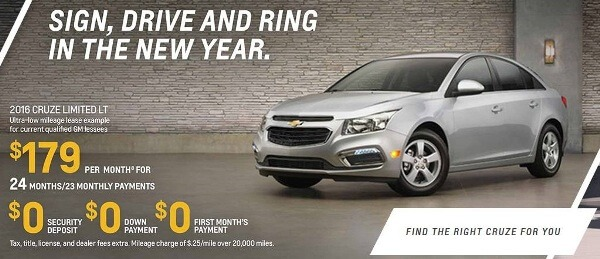 chevy cruze lease ad