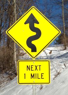 small curve sign