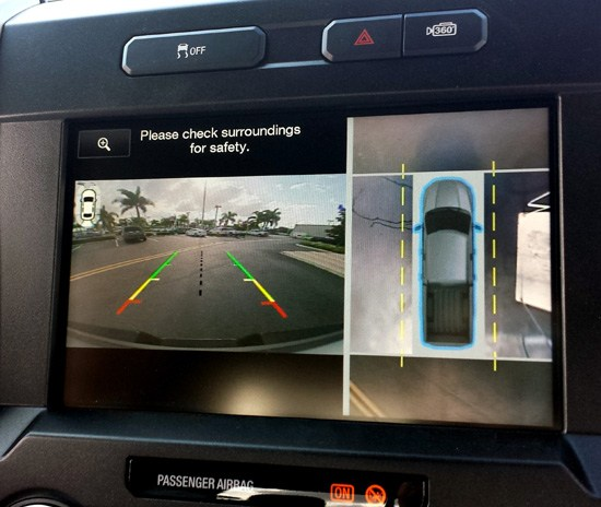 2015 f-150 exterior camera view on screen