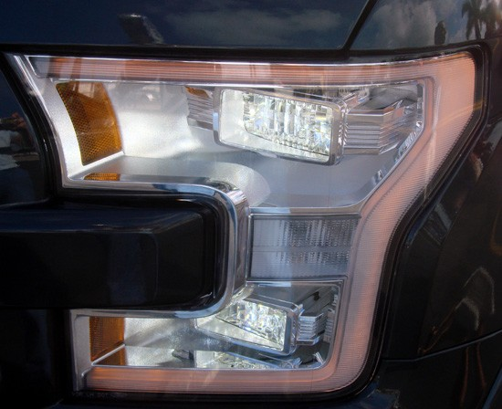 2015 f-150 headlamp closeup