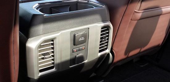 2015 f-150 rear seat console