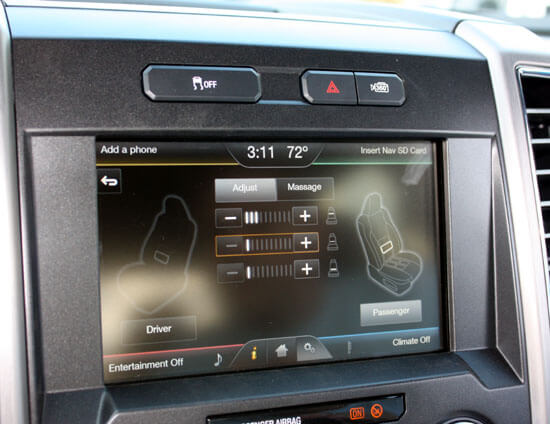 2015 f-150 touch screen