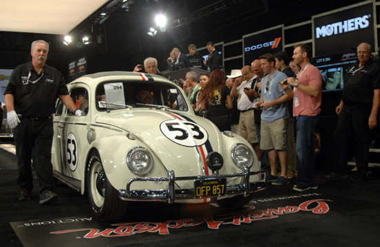 The Herbie Volkswagen sells for $115,000 at Barrett-Jackson Auction 2015