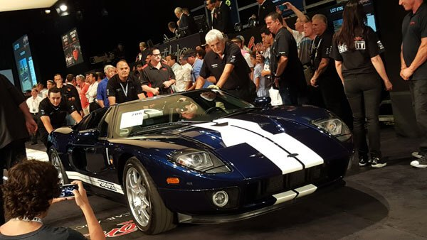 A 2006 Ford GTX1 receives a hammer price of $365,000 at Barrett-Jackson