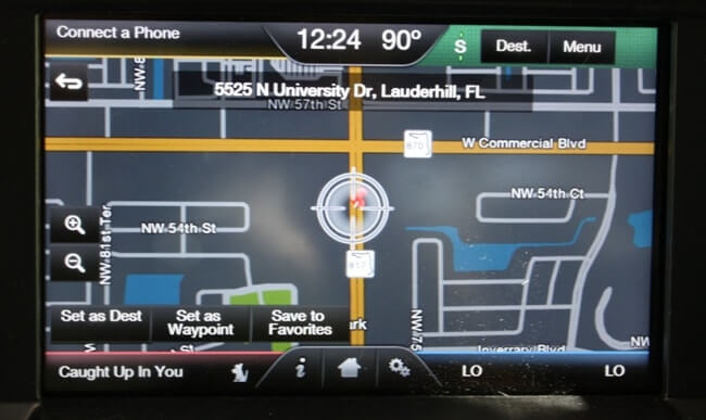 built in vehicle navigation system