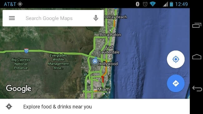 android map app screenshot
