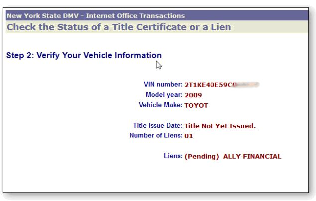 Buying Used Car With Lien Title