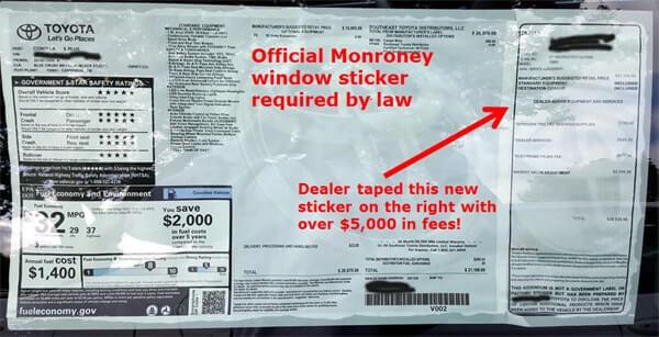 Toyota-window sticker image 4