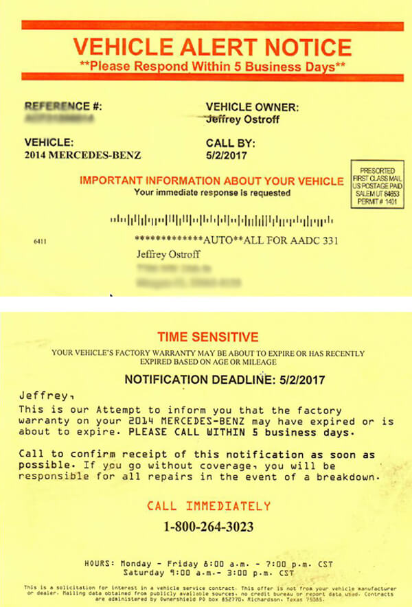 Carbuyingtips warns consumers how to avoid used car extended warranty solicitation we received from ownershield thecheapjerseys Choice Image