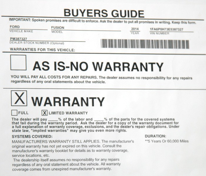 The forced or hidden warranty scam for Used car warranty template